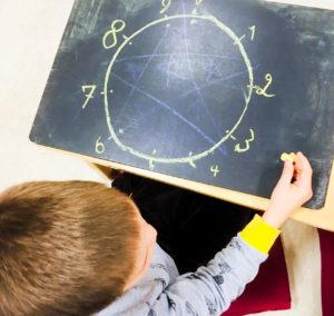 poika matematiikan tunnilla
